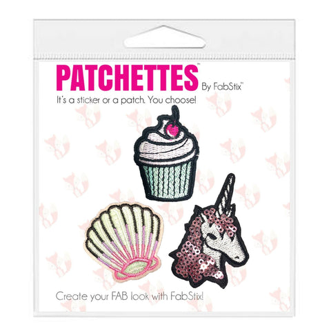Cupcake Unicorn Iron On Patch, FabStix