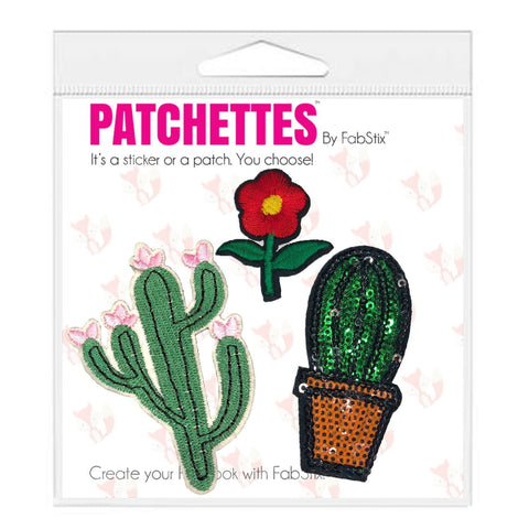 Flower Iron On Patch Sticker-FabStix