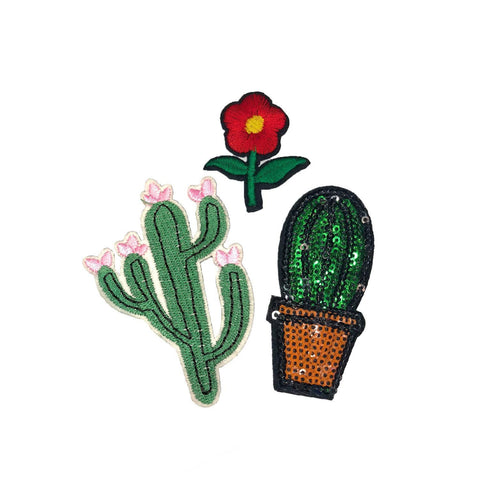 Cactus Iron On Patch Sticker, FabStix