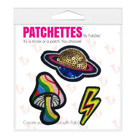 Mushroom Iron On Patch Sticker- FabStix