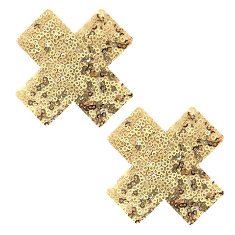 Gold sequin nipple pasties, Neva Nude