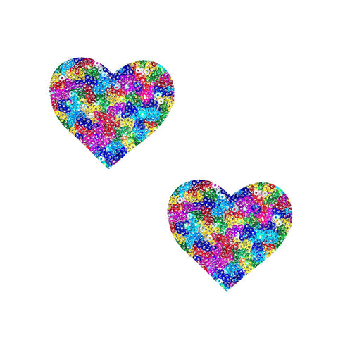 Mini Pride heart Body Stickers, Neva Nude