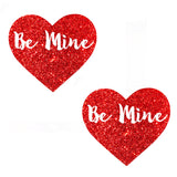 Be Mine Valentine Ravish Me Red Glitter I Heart U Pasties