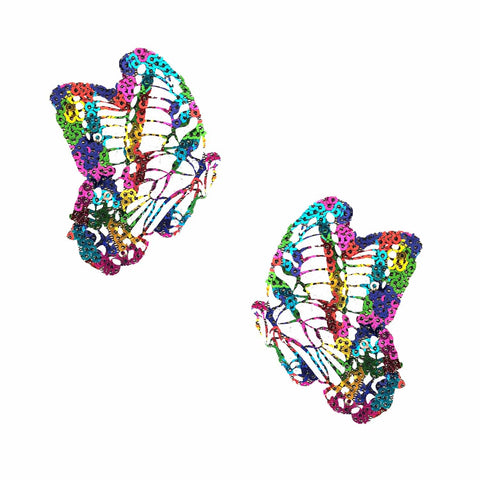 sequin butterfly nipple pasties, Neva Nude