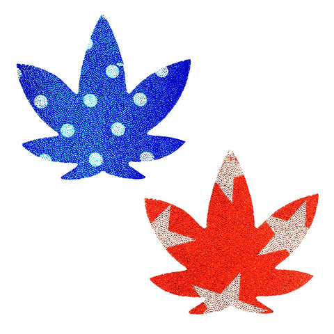 USA weed nipple pasties, Neva Nude