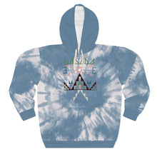 Load image into Gallery viewer, Lakota Spring Sioux Blue Tie Dye Adult Hoodie