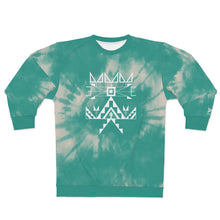 Load image into Gallery viewer, Turquoise Tie Dye Crew Adult Sweatshirt