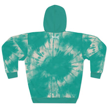 Load image into Gallery viewer, Turquoise Tie Dye Adult Hoodie