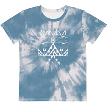 Load image into Gallery viewer, Kids Sioux Blue Tie Dye Crew Tee