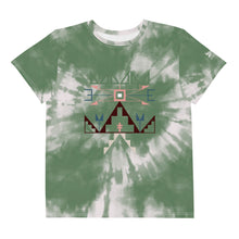Load image into Gallery viewer, Lakota Design Youth Sage Tie Dye Crew Tee