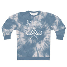 Load image into Gallery viewer, Sioux Blue Tie Dye Crew Adult Sweatshirt