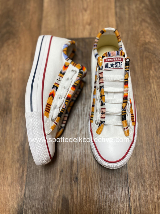 Custom Beaded Converse Shoes- Clara Style