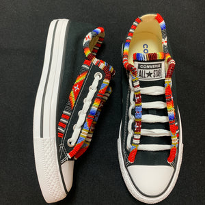 Custom Beaded Converse Shoes - Twin Style