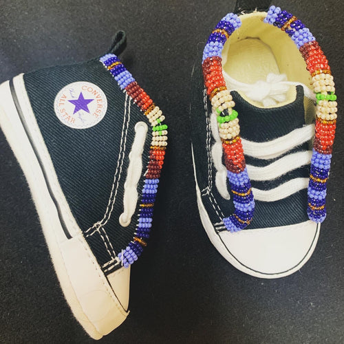 Custom Beaded Infant First Star Chucks