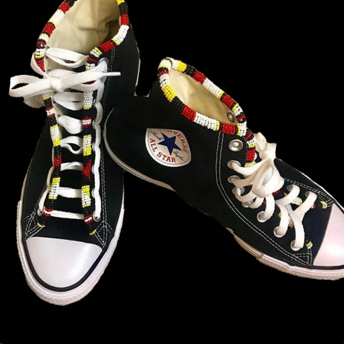 Custom Beaded Converse Hightop Shoes - Original Style