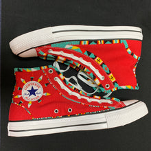 Load image into Gallery viewer, Custom Beaded Converse Hightop Shoes- Twin Style