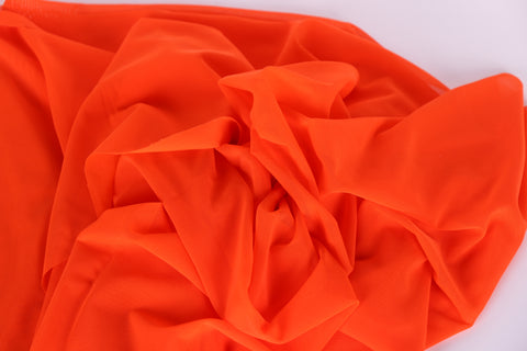 orange stretch mesh for bra making, lingerie, dance costumes, gymnastics