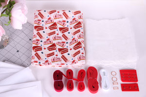 Red Velvet Scuba Fabric bra making kit