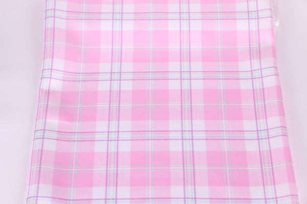pink checked scuba fabric for lingerie