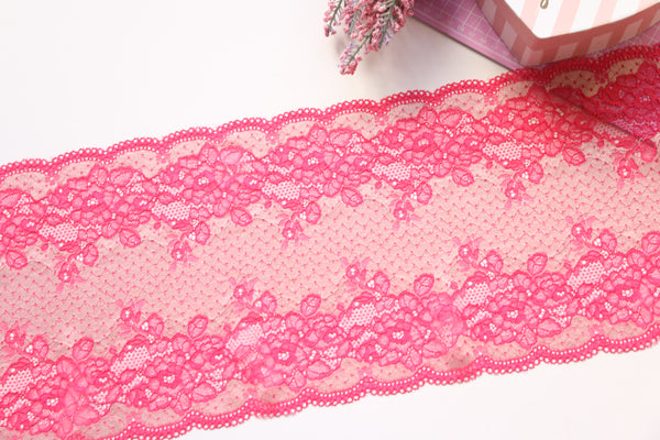 Rose Beige Stretch Lace