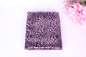 pink leopard satin charmeuse fabric. leopard lingerie fabric