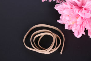 Latte bra wire casing. Latte channeling for bra making