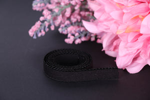 13 mm Black Picot Elastic