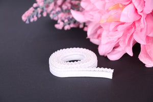 White panty picot elastic - Elastics for bra making lingerie making