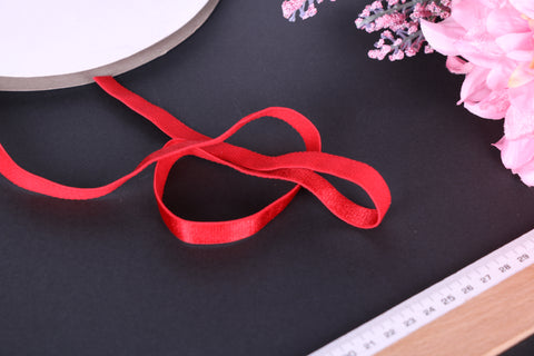 Vivid Red Bra Strap Elastic 12mm