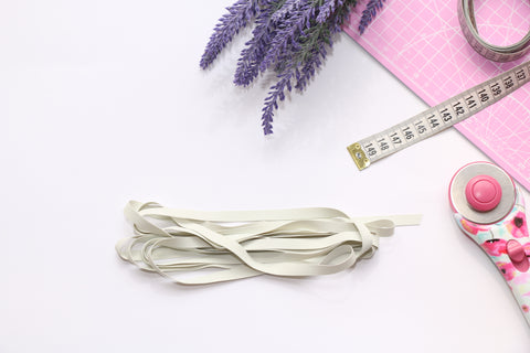 "White Swimwear Elastic 8 mm (5/16"")"