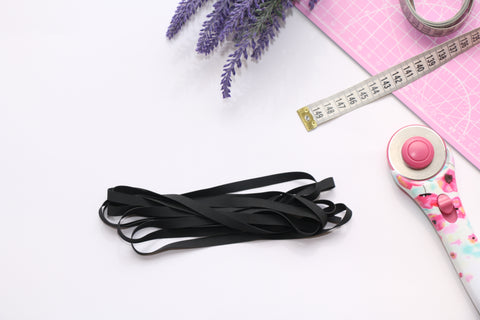 "Black Swimwear Elastic 8 mm (5/16"")"