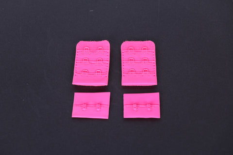 neon pink bra hook and eye. 2 row hook and eye for bra making and lingerie sewing