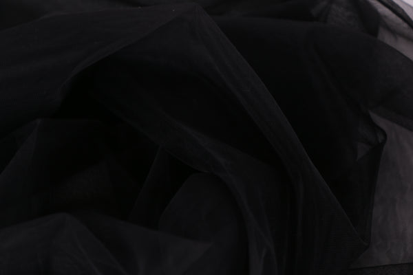 black tulle fabric for bra making