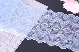Blue Waves Stretch Lace