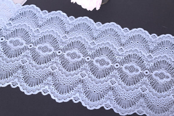 Stretch lace for bra making by the meter.
