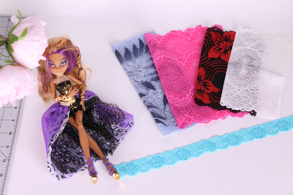 lingerie laces for barbie, bratz, monster high