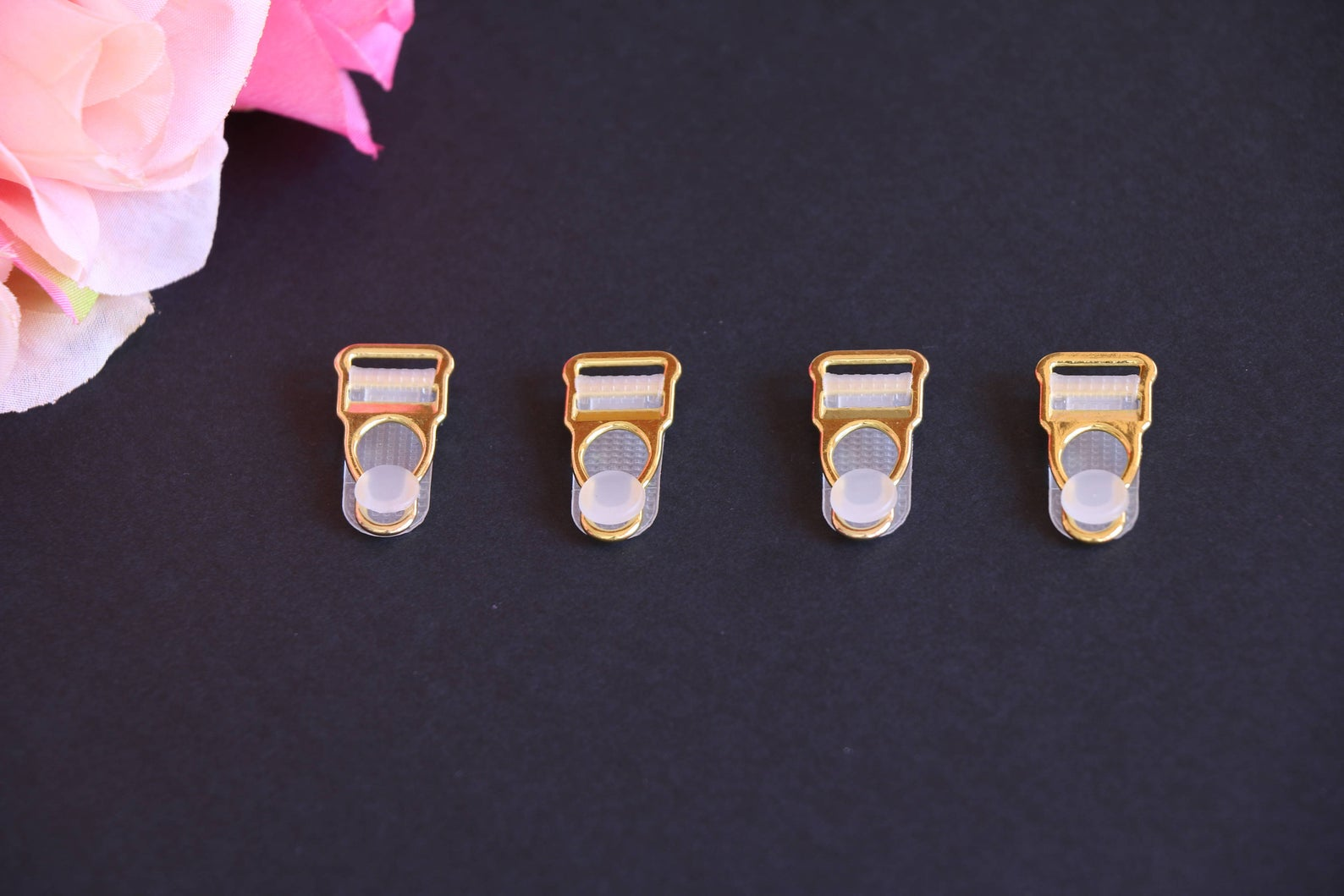 Gold Metal Suspender clips