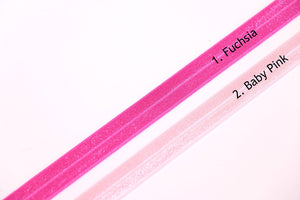 "Pink Fold Over Elastic - 15mm (5/8"")"