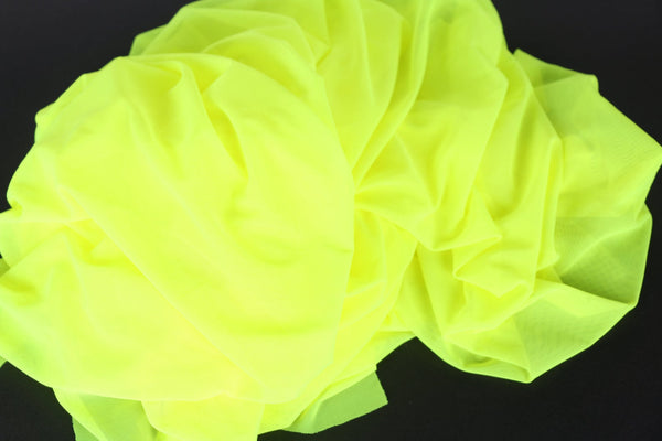 neon yellow net fabric