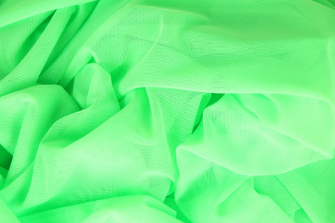 neon green stretch mesh