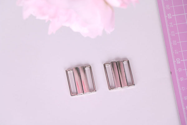 25mm silver bikini clasp for swimwear making sewing