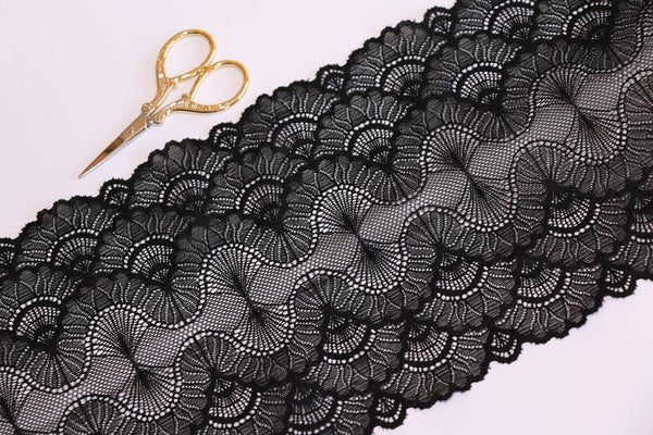 Black Stretch Lace - La Mezquita de Cordoba Lace