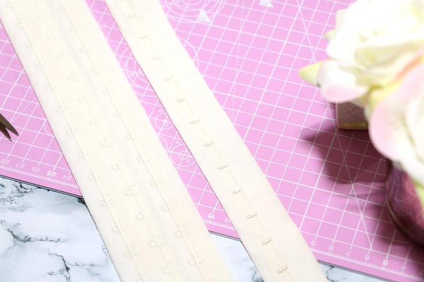corsetry beige hook and eye tape