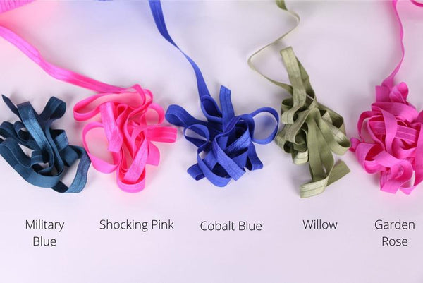 Vivid colors Fold Over Elastics for Lingerie, Activewear and Swimwear