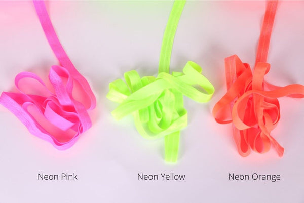 neon colors fold over elastic for lingerie making