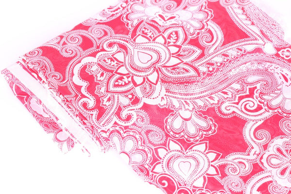 paisley stretch mesh fabric