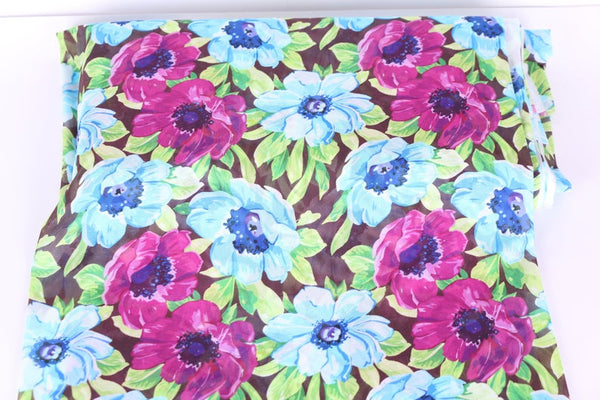 floral stretch mesh for dress making