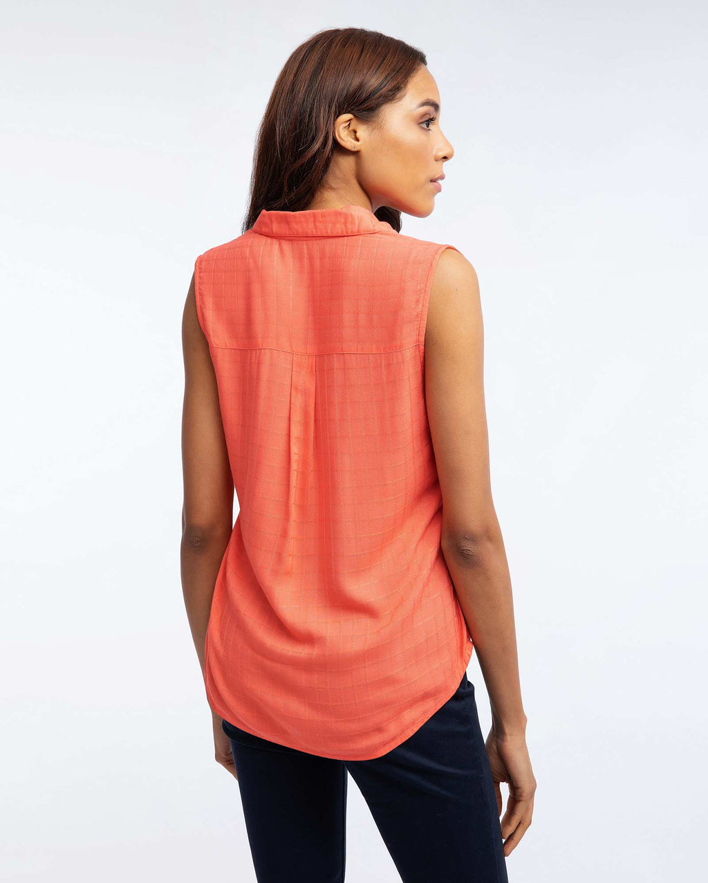 Blusa Sin Mangas Mujer Coral