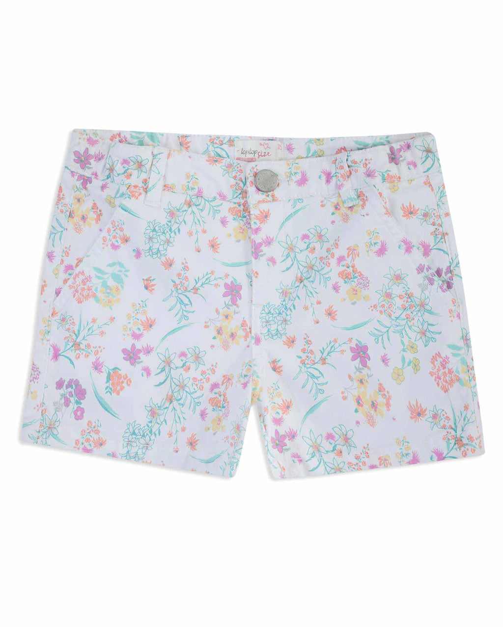 Short Estampado Niña Blanco