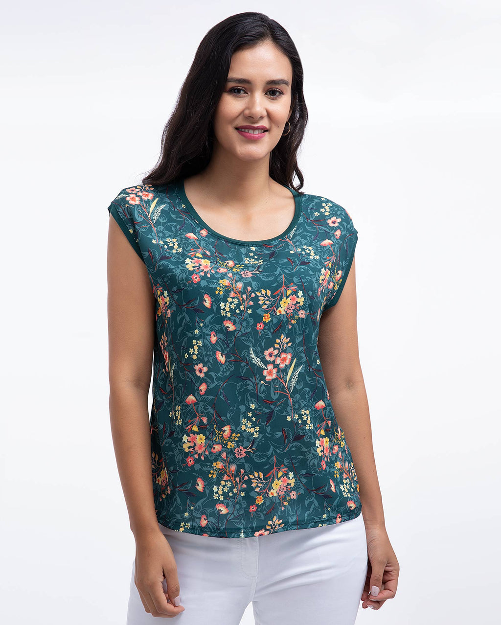 Polo Sin Mangas Mujer Verde